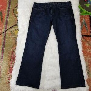 IT Belle Dark Denim Wide Leg Jeans EUC